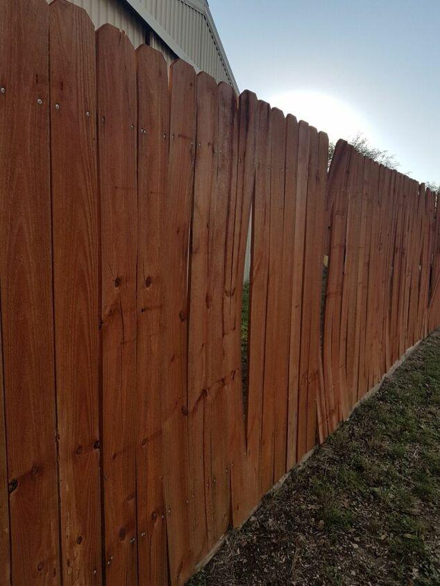 q how do i fix my fence