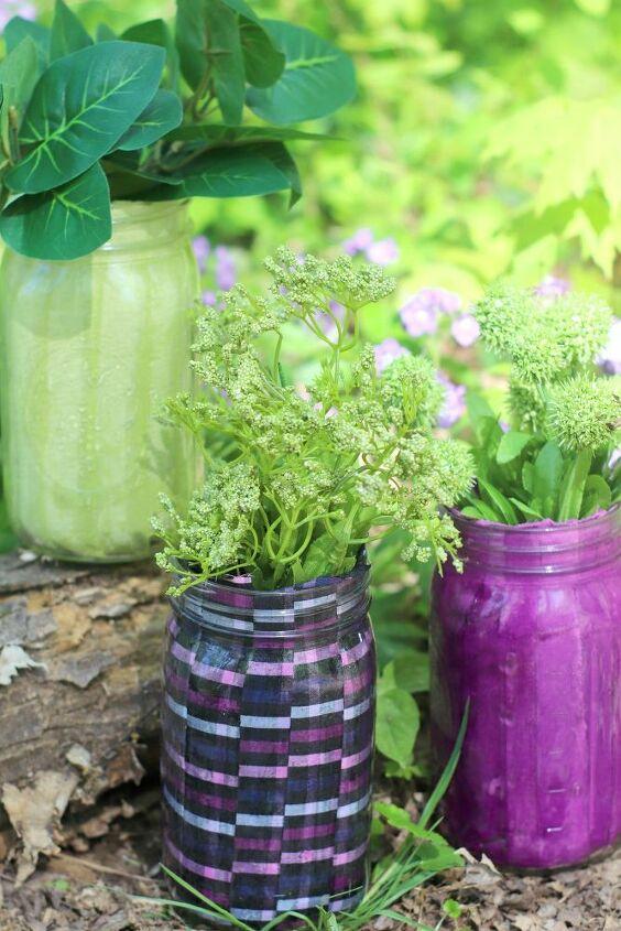 mason jar flower pot home decor