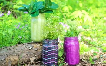 Mason Jar Flower Pot - Home Decor