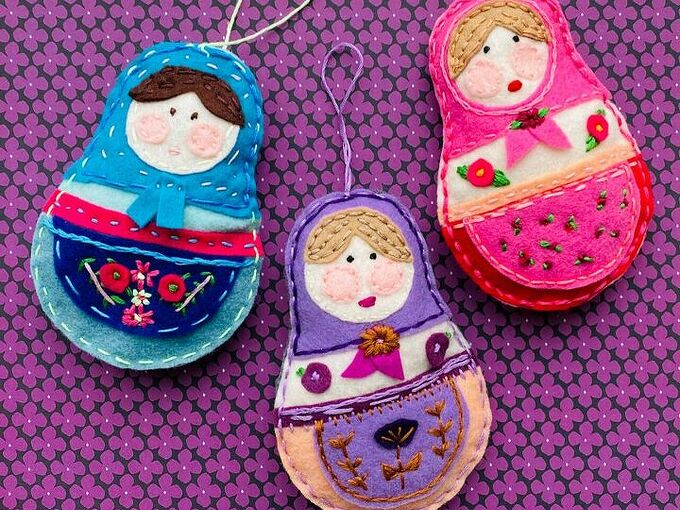 easy felt nesting dolls