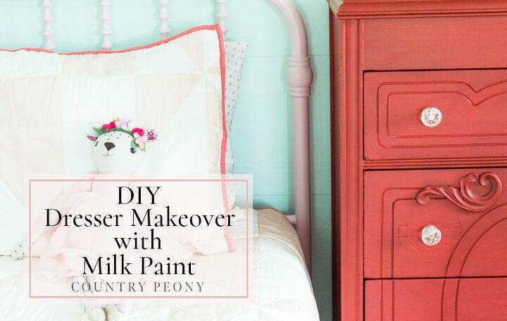 diy dresser makeover with milk paint