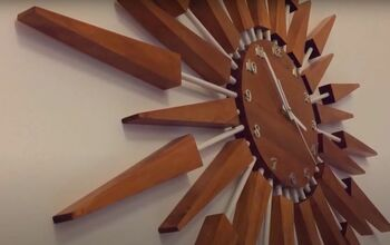 Learn How to Make a Classic Mid-Century Modern Sunburst Clock