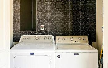Laundry Room Wallpaper DIY