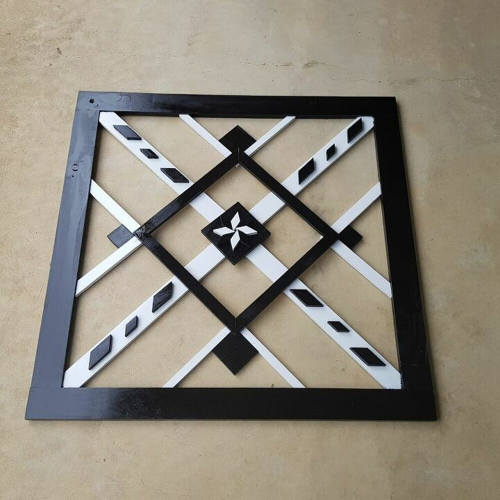 wall hanging made from scrap wood
