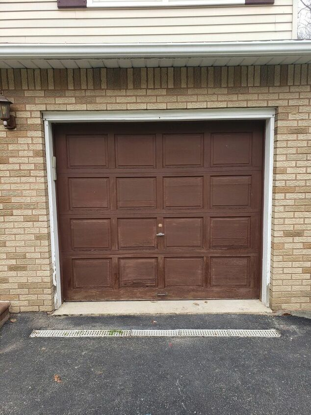 how i made my old deck and garage door look brand new with stain
