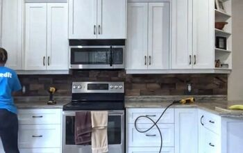DIY Wooden Backsplash