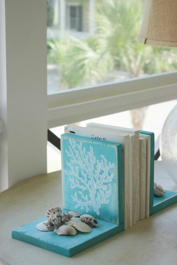 how to make a seashell bookends