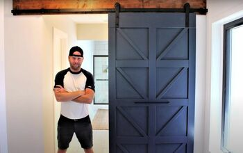 Put Together an Easy Modern Farmhouse Barn Door in Only 8 Steps