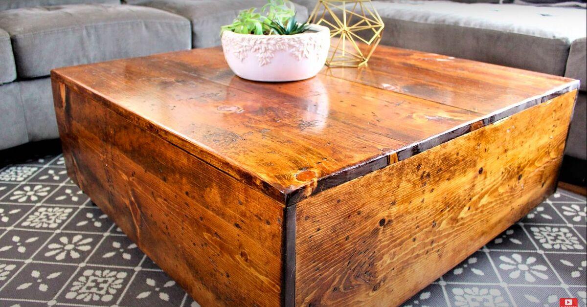Build An Easy Diy Square Farmhouse Coffee Table Yourself Hometalk