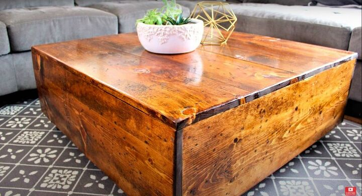 DIY Rustic Square Coffee Table