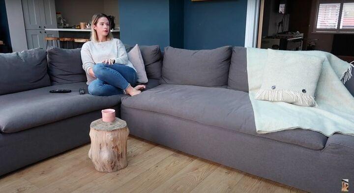 DIY Upcycled Log Coffee Table