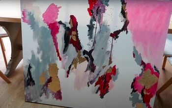 Create a Huge Piece of DIY Abstract Artwork for Your Home