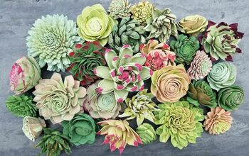 How to Dye Sola Wood Flowers - Succulents Edition!