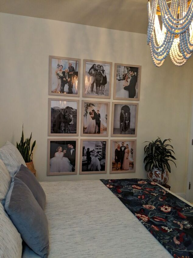 hanging gallery wall in a perfect grid, Finished Product