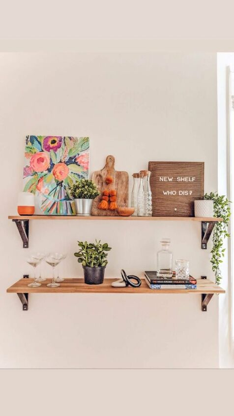 hanging kitchen shelves styling tips