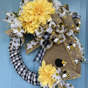 Bee Skep Wreath