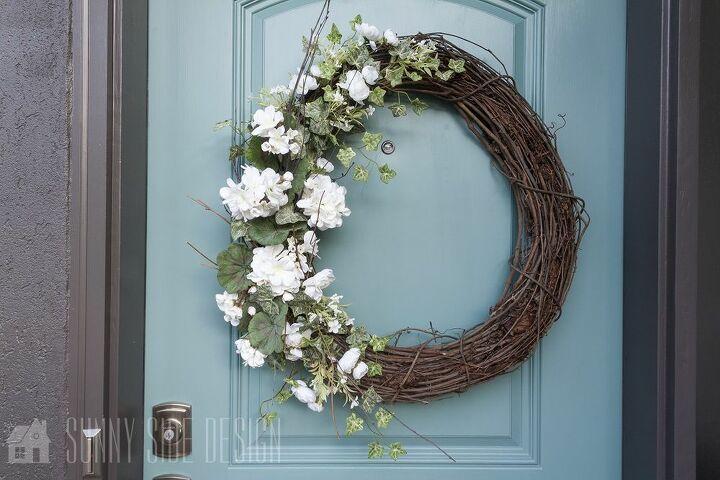 door wreath for summer
