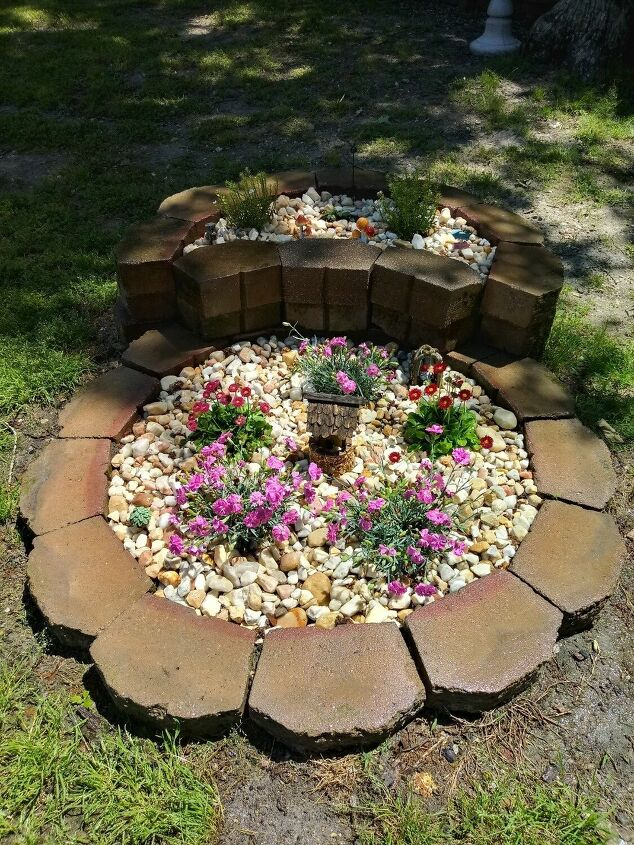 from trash to fairy garden