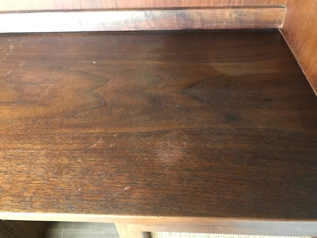q how to repair waters stains on cabinet help