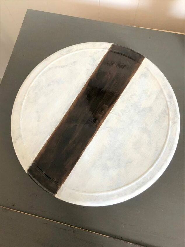 anthropologie inspired knock off marbled lazy susan