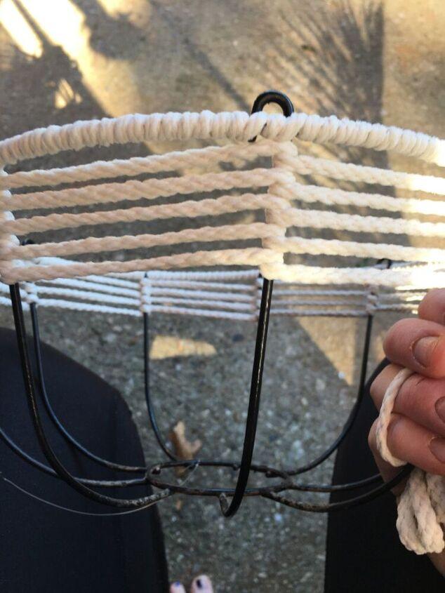 macrame basket makeover