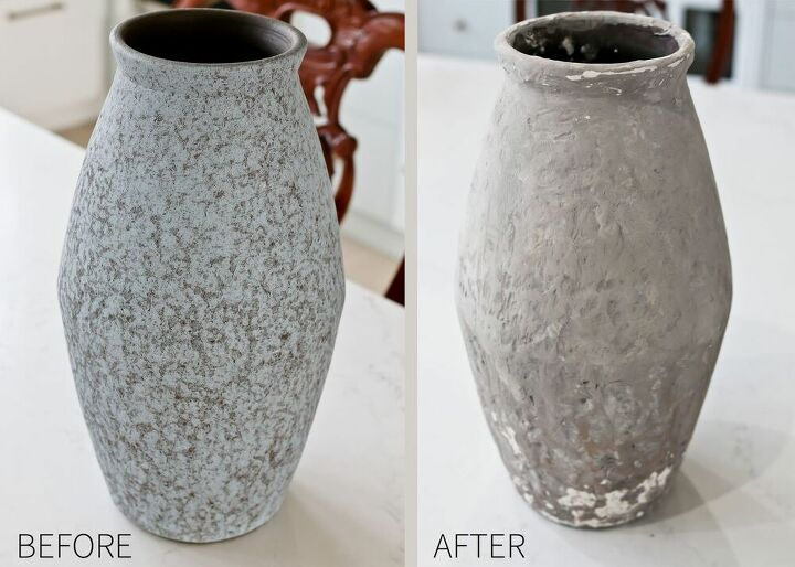 diy plaster vase makeover brand new to old world style