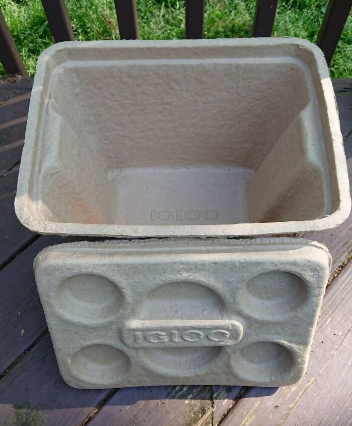 igloo recool reuse project easy planter box