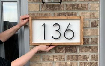 Wooden Address Sign