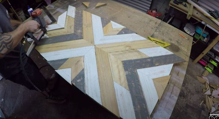 Nail the Pallet Wood Down