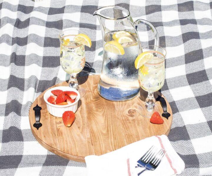 easy diy circular serving tray