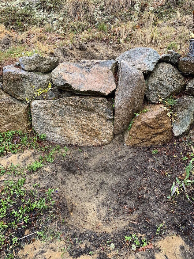 q have rock wall hole above hole below for small ponds w