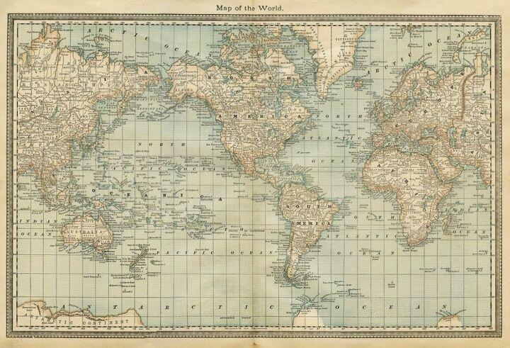 Photowall Pale Vintage World Map Wallpaper