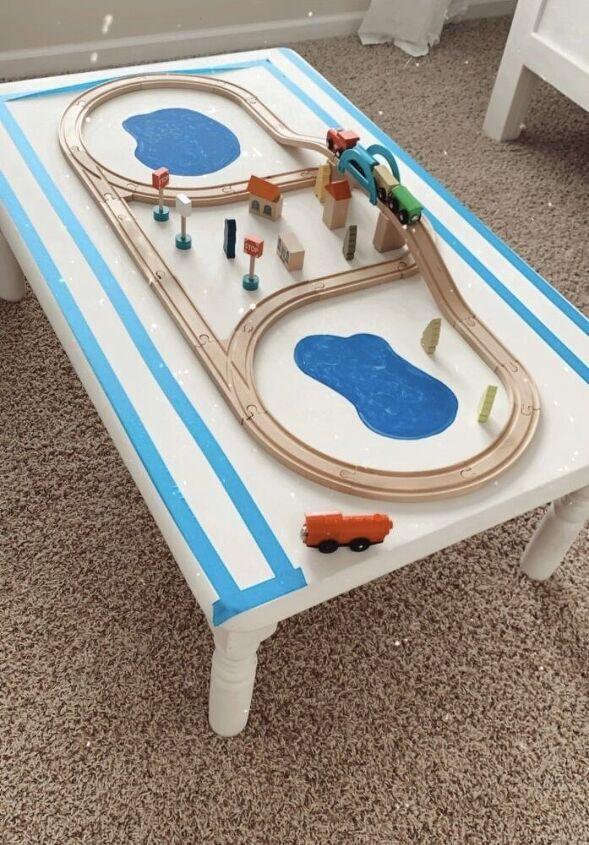 free diy train table