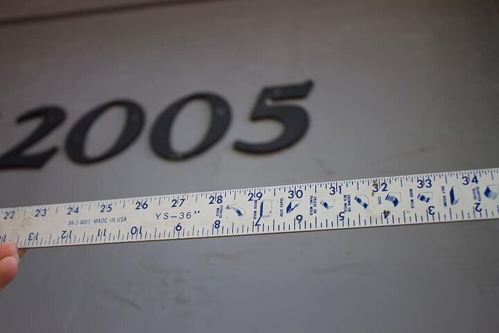 how to make a modern house numbers sign