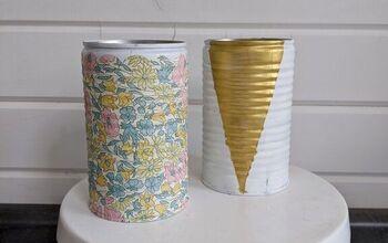 Kid's Craft - Tin Can Vases (3 Ways)!