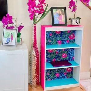 Tropical Velvet Bookcase