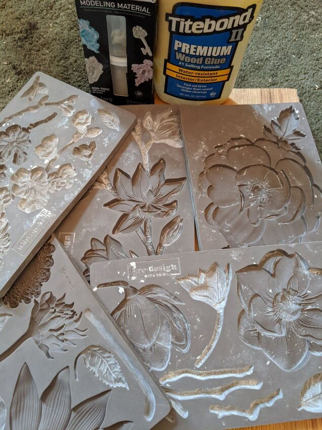 how to turn a mdf table into a work of art using paint moulds and clay