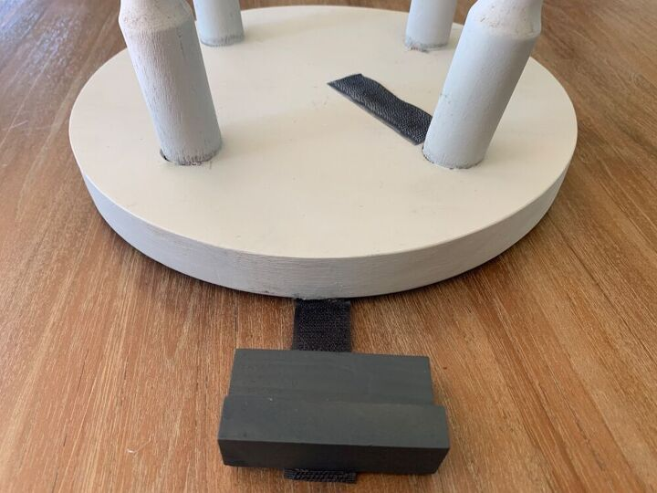gym ball and tablet stand from an old stool