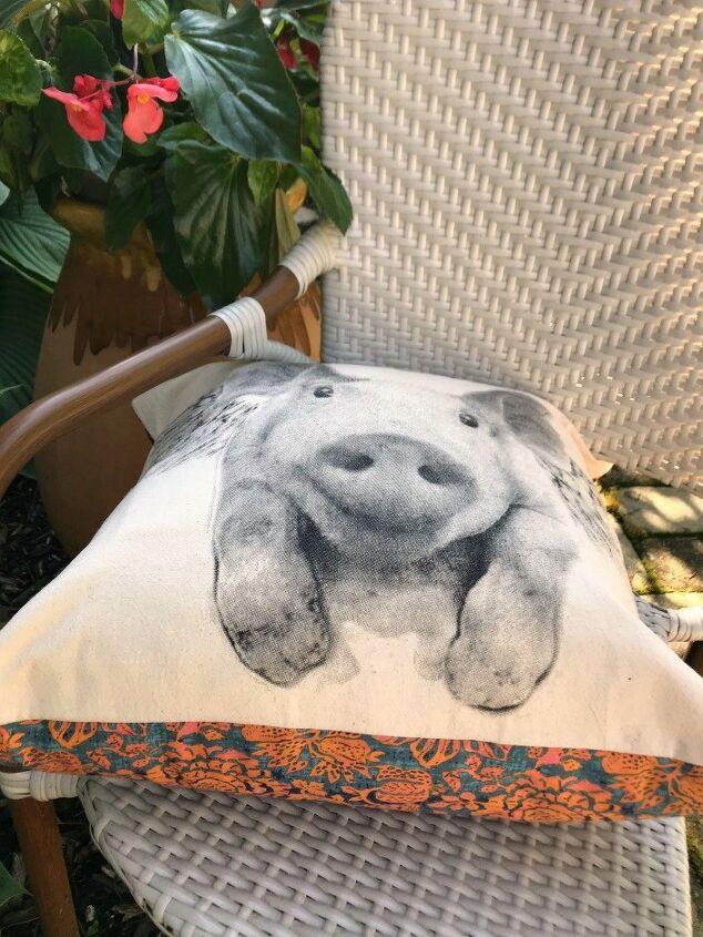 upcycled dishcloth pillow