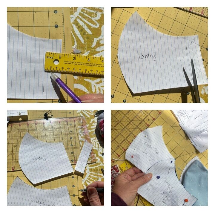 how to make a curved mask pattern without a printer