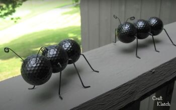 ATTACK OF THE GIANT ANTS!  Golf Ball Garden Project