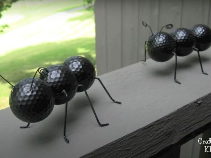 attack of the giant ants golf ball garden project