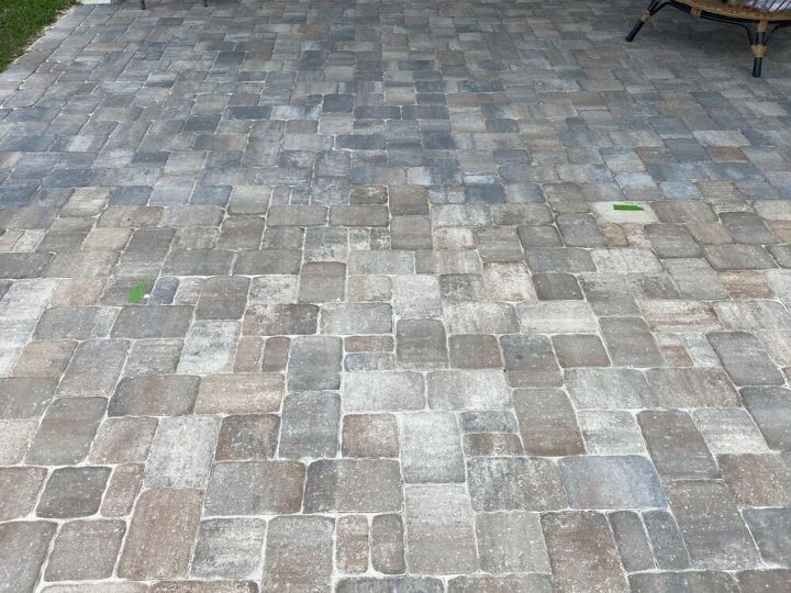 q newly installed pavers are a different color