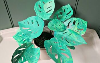 How to Make a Paper Plant With Marbled Leaves