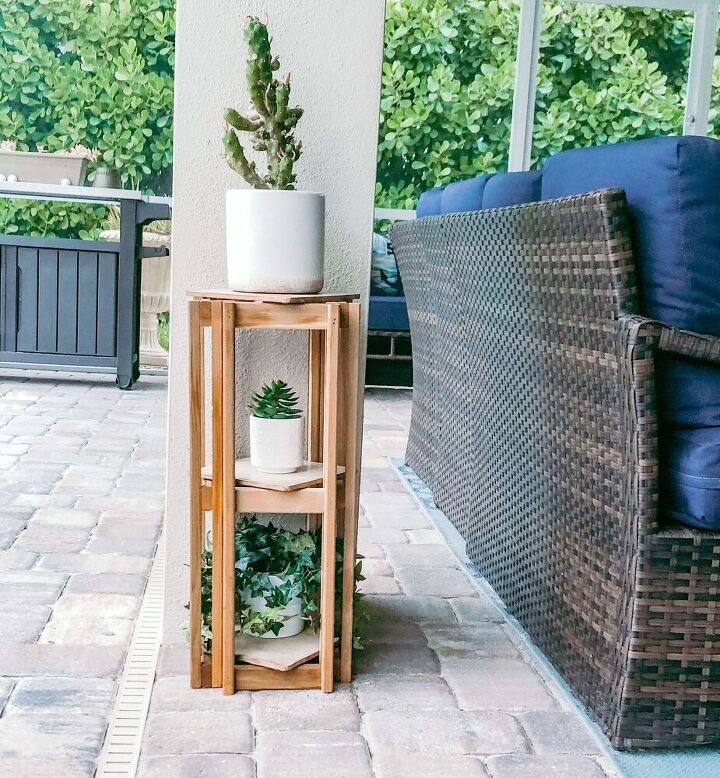 diy 3 tier wooden planter using scrap wood