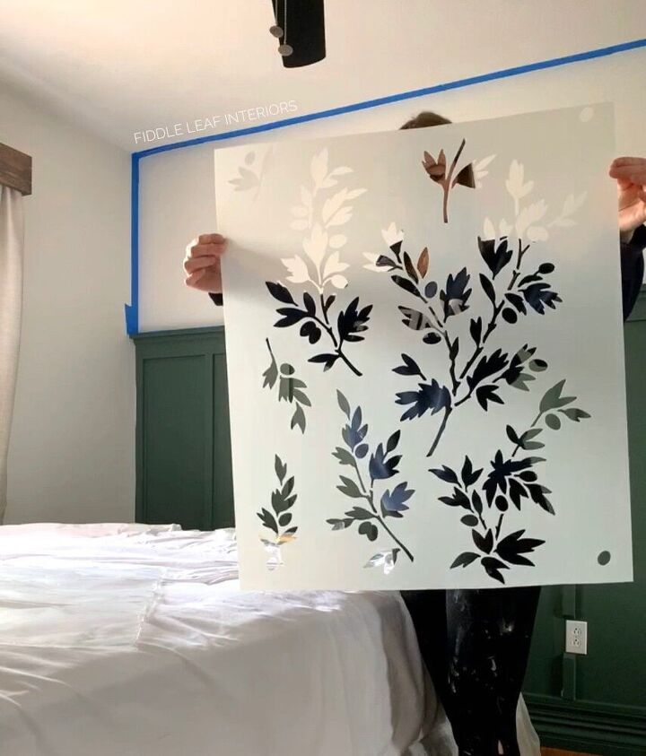 wall stencil faux wallpaper tutorial on textured walls