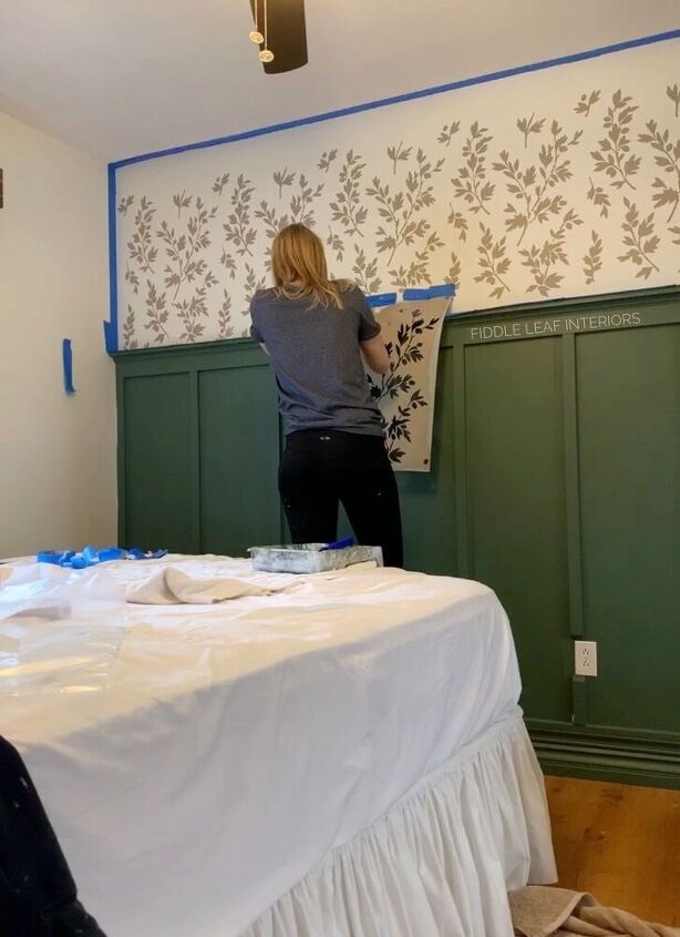 wall stencil faux wallpaper tutorial on textured walls