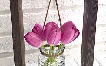 Wood Framed Flower Vase