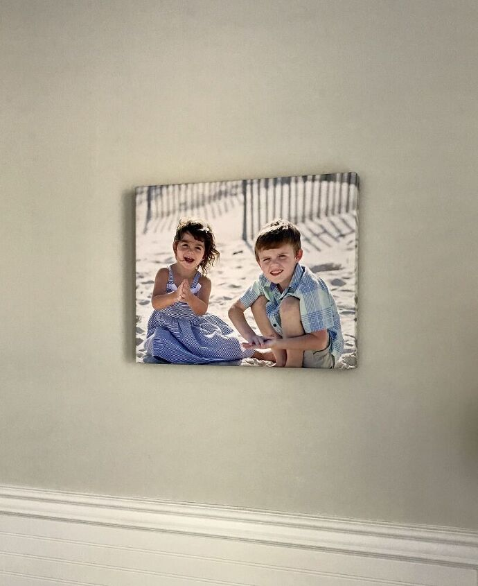 simple diy canvas frame from lattice wood and moulding