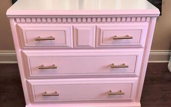 $20 Kid-Friendly Pink Dresser Rehab